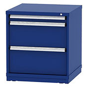"""Borroughs Modular Cabinet, MDC-0019-0202, 30x29-1/4x33"""", 3 Drawers, 40 Compts, Blue"""