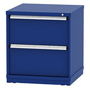 "Borroughs Modular Cabinet, MDC-0020-0202, 30x29-1/4x33"", 2 Drawers, 2 Compts, Blue"