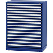 "Borroughs Modular Cabinet, MDC-0021-0202, 45x29-1/4x59"", 15 Drawers, 446 Compts, Blue"