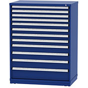 "Borroughs Modular Cabinet, MDC-0022-0202, 45x29-1/4x59"", 12 Drawers, 348 Compts, Blue"