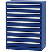 "Borroughs Modular Cabinet, MDC-0023-0202, 45x29-1/4x59"", 9 Drawers, 135 Compts, Blue"