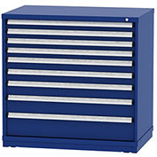 "Borroughs Modular Cabinet, MDC-0024-0202, 45x29-1/4x44"", 9 Drawers, 254 Compts, Blue"