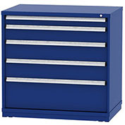 "Borroughs Modular Cabinet, MDC-0025-0202, 45x29-1/4x44"", 5 Drawers, 140 Compts, Blue"