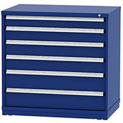 "Borroughs Modular Cabinet, MDC-0026-0202, 45x29-1/4x44"", 6 Drawers, 152 Compts, Blue"
