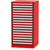 """Borroughs Modular Cabinet, MDC-0027-0505, 30x29-1/4x59"""", 17 Drawers, 400 Compts, Red"""