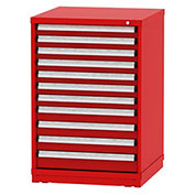 "Borroughs Modular Cabinet, MDC-0035-0505, 30x29-1/4x44"", 11 Drawers, 248 Compts, Red"