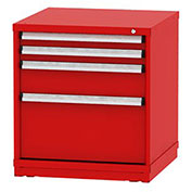"""Borroughs Modular Cabinet, MDC-0043-0505, 30x29-1/4x33"""", 4 Drawers, 68 Compts, Red"""