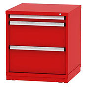 "Borroughs Modular Cabinet, MDC-0044-0505, 30x29-1/4x33"", 3 Drawers, 40 Compts, Red"