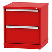 "Borroughs Modular Cabinet, MDC-0045-0505, 30x29-1/4x33"", 2 Drawers, 2 Compts, Red"