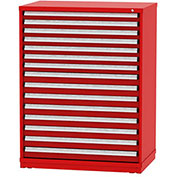"Borroughs Modular Cabinet, MDC-0046-0505, 45x29-1/4x59"", 15 Drawers, 446 Compts, Red"