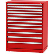 "Borroughs Modular Cabinet, MDC-0047-0505, 45x29-1/4x59"", 12 Drawers, 348 Compts, Red"