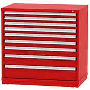 "Borroughs Modular Cabinet, MDC-0049-0505, 45x29-1/4x44"", 9 Drawers, 254 Compts, Red"