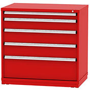 "Borroughs Modular Cabinet, MDC-0050-0505, 45x29-1/4x44"", 5 Drawers, 140 Compts, Red"