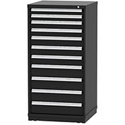 "Borroughs Modular Cabinet, MDC-0055-0606, 30x29-1/4x59"", 11 Drawers, 268 Compts, Black"