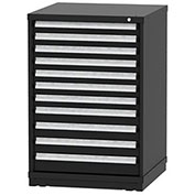 "Borroughs Modular Cabinet, MDC-0060-0606, 30x29-1/4x44"", 11 Drawers, 248 Compts, Black"