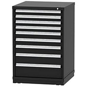 "Borroughs Modular Cabinet, MDC-0061-0606, 30x29-1/4x44"", 9 Drawers, 183 Compts, Black"