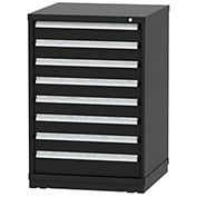 "Borroughs Modular Cabinet, MDC-0062-0606, 30x29-1/4x44"", 8 Drawers, 160 Compts, Black"
