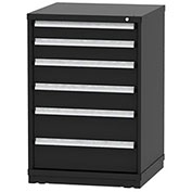 "Borroughs Modular Cabinet, MDC-0065-0606, 30x29-1/4x44"", 6 Drawers, 84 Compts, Black"