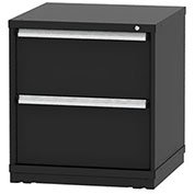 "Borroughs Modular Cabinet, MDC-0070-0606, 30x29-1/4x33"", 2 Drawers, 2 Compts, Black"