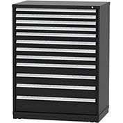 "Borroughs Modular Cabinet, MDC-0072-0606, 45x29-1/4x59"", 12 Drawers, 348 Compts, Black"