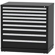 "Borroughs Modular Cabinet, MDC-0074-0606, 45x29-1/4x44"", 9 Drawers, 254 Compts, Black"