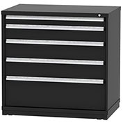 "Borroughs Modular Cabinet, MDC-0075-0606, 45x29-1/4x44"", 5 Drawers, 140 Compts, Black"