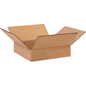 "Flat Corrugated Boxes 10"" x 10"" x 2"" 200lb. Test/ECT-32 25 Pack"