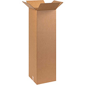 "Tall Cardboard Corrugated Box 10"" x 10"" x 30"" 200lb. Test/ECT-32 - 25 Pack"