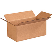 "Cardboard Corrugated Boxes 10 x 5 x 4"", 200 lb. Test/ECT-32 Kraft - 25 Pack"