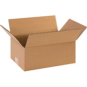 "Flat Corrugated Boxes 10"" x 6"" x 3"" 200lb. Test/ECT-32 25 Pack"