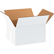 "White Cardboard Corrugated Box 10"" x 8"" x 6"" 200lb. Test/ECT-32 - 25 Pack"