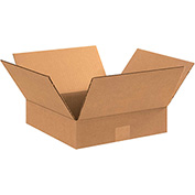 "Flat Corrugated Boxes 11"" x 11"" x 3"" - 25 Pack"