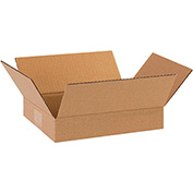 "Flat Corrugated Boxes 11-1/4"" x 8-3/4"" x 2-3/4"" 200lb. Test/ECT-32 25 Pack"