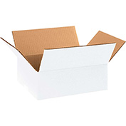 "White Corrugated Boxes 11-1/4"" x 8-3/4"" x 4"" 200lb. Test/ECT-32 25 Pack"