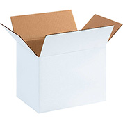 "White Corrugated Boxes 11-1/4"" x 8-3/4"" x 8"" 200lb. Test/ECT-32 25 Pack"