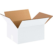 "White Corrugated Carton 12"" x 10"" x 6"" 200lb. Test/ECT-32 - 25 Pack"