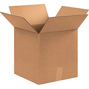 "Corrugated Boxes 12"" x 12"" x 13"", 200 lb. Test/ECT-32 Kraft - 25 Pack"