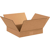"Cardboard Flat Corrugated Box 12"" x 12"" x 2"" 200Lb. Test/ECT-32  Kraft - 25 Pack"