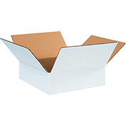 "White Corrugated Boxes 12"" x 12"" x 4"" 200lb. Test/ECT-32 25 Pack"
