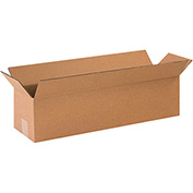 "Long Corrugated Boxes 12"" x 3"" x 3"" 200lb. Test/ECT-32 25 Pack"