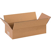"Long Corrugated Boxes 12"" x 6"" x 3"" 200lb. Test/ECT-32 25 Pack"