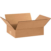"Flat Corrugated Boxes 12"" x 8"" x 3"" - 25 Pack"