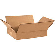 "Flat Corrugated Boxes 12"" x 9"" x 2"" 200lb. Test/ECT-32 25 Pack"