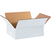 "White Cardboard Corrugated Box 12"" x 9"" x 4"" 200lb. Test/ECT-32 - 25 Pack"