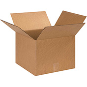 "Cardboard Single Wall Corrugated Box 13"" x 13"" x 12"" 200Lb. Test/ECT-32  Kraft - 25 Pack"