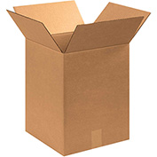 "Cardboard Single Wall Corrugated Box 13"" x 13"" x 17"" 200Lb. Test/ECT-32  Kraft - 25 Pack"