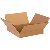 "Flat Corrugated Boxes 13"" x 13"" x 2"" 200lb. Test/ECT-32 25 Pack"