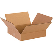 "Flat Corrugated Boxes 13"" x 13"" x 3"" 200lb. Test/ECT-32 25 Pack"