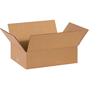 "Flat Corrugated Boxes 13"" x 9"" x 4"" 200lb. Test/ECT-32 25 Pack"