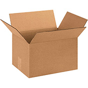 "Cardboard Corrugated Boxes 13 x 9 x 8"", 200 lb. Test/ECT-32 Kraft - 25 Pack"